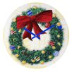 DENY Designs Madart Inc. Pine Wreath Wall Clock
