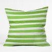 DENY Designs Social Proper Spruce Stripes Throw Pillow