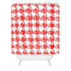 DENY Designs Social Proper Candy Houndstooth Woven Polyester Shower Curtain