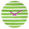 DENY Designs Social Proper Spruce Stripes Wall Clock