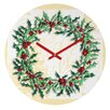 DENY Designs Madart Inc. Holly Wreath Wall Clock