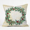 DENY Designs Madart Inc. Holly Wreath Throw Pillow