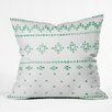 DENY Designs Social Proper Holiday Sweater Throw Pillow