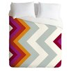 DENY Designs Karen Harris Lightweight Modernity Solstice Warm Chevron Duvet Cover