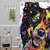 DENY Designs Dean Russo Border Collie Polyesterrr Shower Curtain