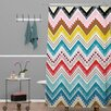 DENY Designs Khristian A Howell Woven Polyester Nolita Chevrons Shower Curtain