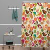 DENY Designs Valentina Ramos Woven Polyester Little Birds Extra Long Shower Curtain
