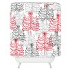 DENY Designs Rachael Taylor Doodle Trees Woven Polyester Shower Curtain