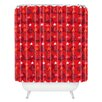 DENY Designs Julia Da Rocha Christmastrees Woven Polyester Shower Curtain