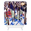 DENY Designs Renie Britenbucher Magic Snowmen Woven Polyester Shower Curtain