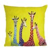 DENY Designs Clara Nilles Jellybean Giraffes Woven Polyester Throw Pillow