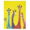 DENY Designs Jellybean Giraffes by Clara Nilles Painting Print Gallery Wrapped on Canvas