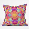DENY Designs Elisabeth Fredriksson Colorful Mosaic Sun Outdoor Throw Pillow
