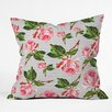 DENY Designs Allyson Johnson Roses and Stripes Outdoor Throw Pillow