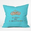 DENY Designs Bianca Green Queen of Everything Outdoor Throw Pillow