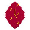 DENY Designs Jacqueline Maldonado Reindeer Stars Wall Clock