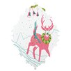 DENY Designs Betsy Olmsted Holiday Deer Wall Clock