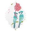 DENY Designs Betsy Olmsted Holiday Birds Wall Clock