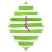 DENY Designs Social Proper Spruce Stripes Wall Clock