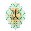DENY Designs Happee Monkee Joy Peace Love Wall Clock