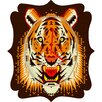 <strong>DENY Designs</strong> Chobopop Geometric Tiger Wall Clock