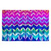 DENY Designs Holly Sharpe Summer Dreaming Pink Chevron Area Rug