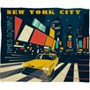 Anderson Design Group NYC Times Square Polyester Fleece Throw Blanket