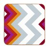 <strong>DENY Designs</strong> Modernity Solstice Warm Chevron by Karen Harris Framed Graphic Art Plaque