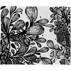 DENY Designs Julia Da Rocha Wild Leaves Polyesterrr Fleece Throw Blanket