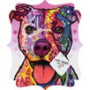 DENY Designs Dean Russo Cherish The Pitbull Quatrefoil Magnet Memo Board