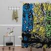 DENY Designs Romi Vega Polyester Bright Owl Shower Curtain