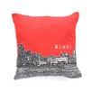 DENY Designs Bird Ave Miami Woven Polyester Throw Pillow