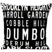 Uptown Artworks Brooklyn Neighbordhoods Pillow