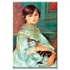 Buyenlarge Jilie Manet with Cat Painting Print on Canvas