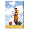 Buyenlarge 'Spring Planting' by Maxfield Parrish Painting Print on Canvas