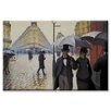 Buyenlarge 'Paris Street Rainy Day' Painting Print on Canvas