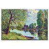 <strong>Buyenlarge</strong> River Landscape at Moret sur Loing Painting Print on Canvas