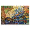 <strong>Buyenlarge</strong> 'Fishing Boats and Collioure' Painting Print on Canvas
