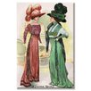 <strong>Buyenlarge</strong> Le Costume Royals Ladies in Ostrich Feathered Hats Graphic Art on Canvas