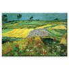 Buyenlarge 'The Plains at Auvers' Painting Print on Canvas