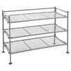 "Seville Classics Mesh Shoe Rack 19.1"" H 3 Shelf Shelving Unit"