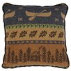 Wooded River Lake Shore Pillow
