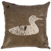 <strong>Wooded River</strong> Jacobs Plaid Duck Cut Out Pillow With Leather Back