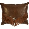 Wooded River Accessory Pillows Crocodile Leather Suede Fringe and Decorative Concho Pillow