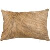 Wooded River Leather Hair on Hide Pillow with Fabric Back