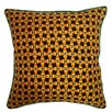 Holiday Elegance Candy Corn Silk Pillow