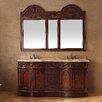 "James Martin Furniture Classico 72"" Double Travertine Vanity Set"