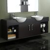 """<strong>James Martin Furniture</strong> Contempo 67"""" Wall Mounted Double Vanity Set"""