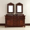 """James Martin Furniture Continental 60"""" Double Vanity Set with Wood Top"""
