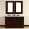 "James Martin Furniture Monterey 60"" Double Vanity Set with Stone Top"